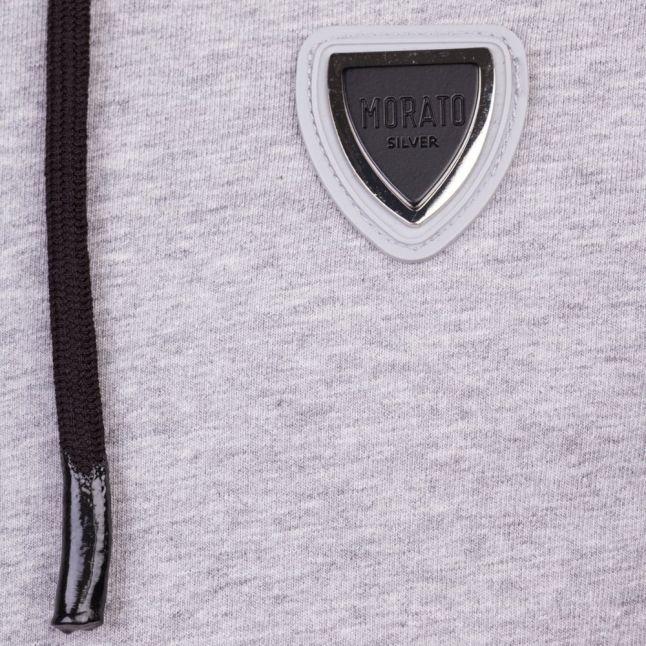 Mens Medium Grey Melange Silver Label Hooded Zip Sweat Top