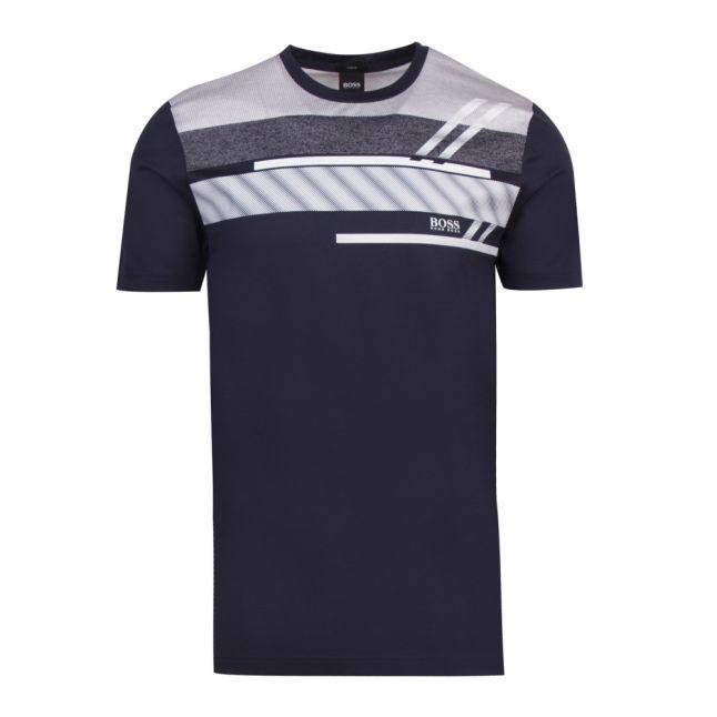 Athleisure Mens Navy Teep 1 Stripe Detail S/s T Shirt