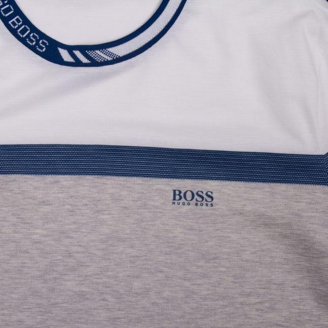 Athleisure Mens Blue Tee 8 Colourblock S/s T Shirt
