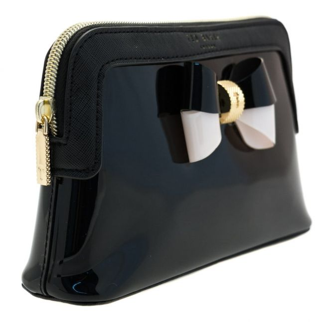 Womens Black Rosamm Colour Block Bow Make Up Bag