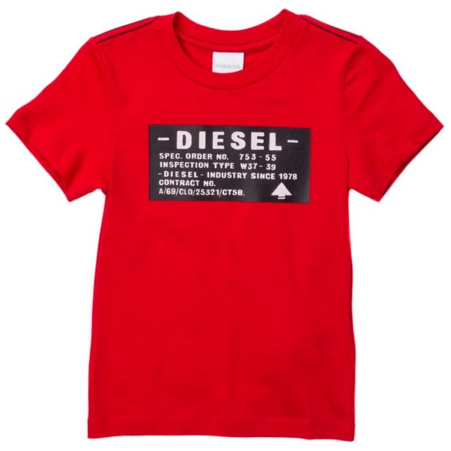 Boys Red Blood Branded S/s Tee Shirt