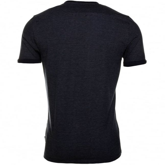 Mens Navy Cress Rollback Sleeve Pocket S/s Tee Shirt