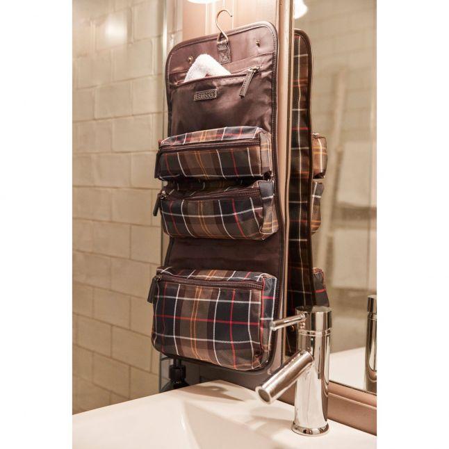 Mens Classic Tartan Hanging Wash Bag