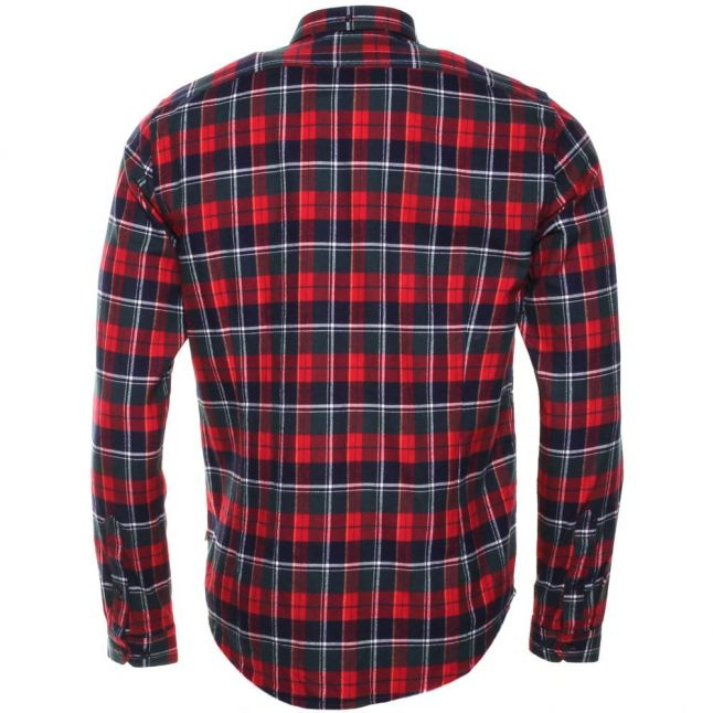 Mens Rich Red Castleford Check L/s Shirt