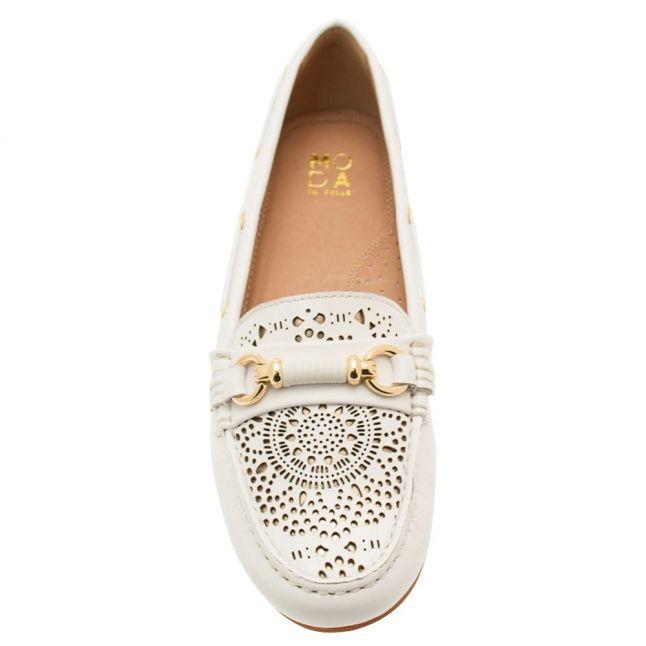 Womens White Esma Loafers