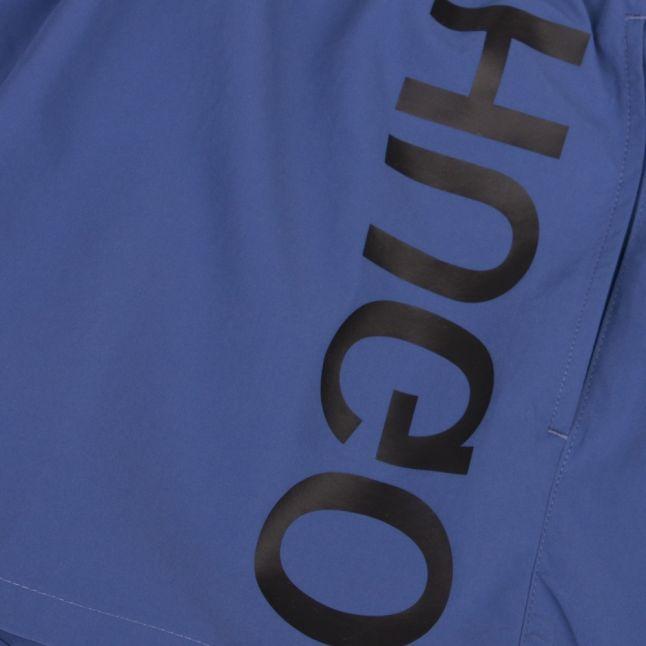 Mens Medium Blue Saba Side Logo Swim Shorts