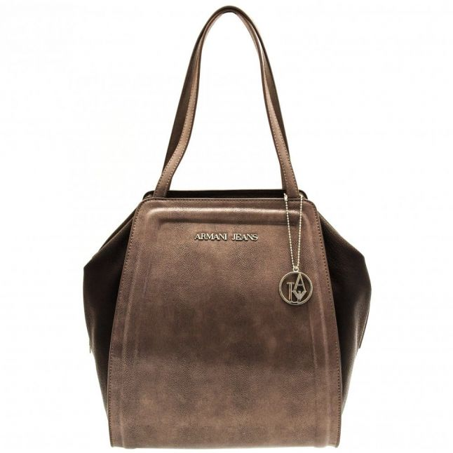 Womens Brown Mottled Effect Shopper Bag