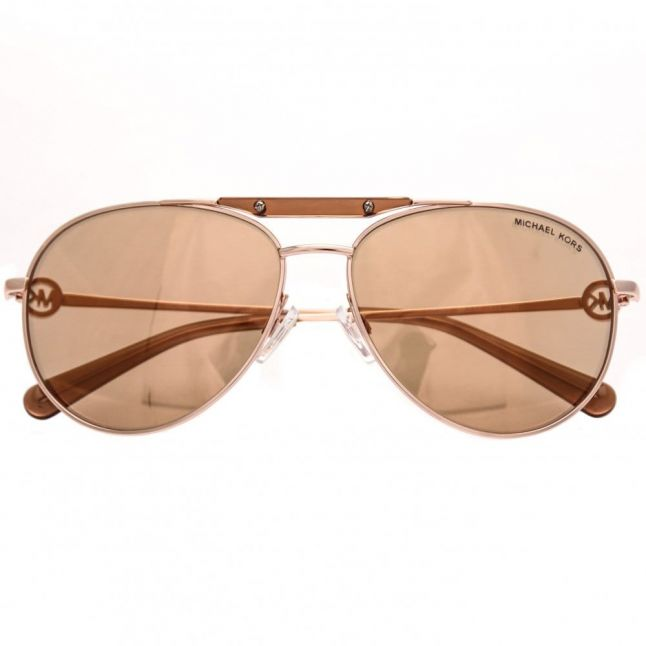 Womens Rose Gold Flash Zanzibar Sunglasses