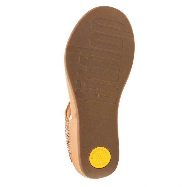 Fit Flop Womens Rose Gold Banda Sparklie Sandals