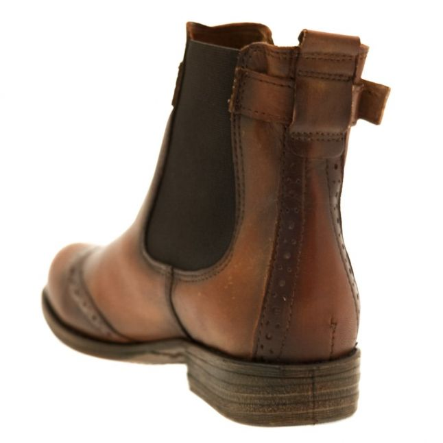 Womens Tan Caliso Brogue Boots