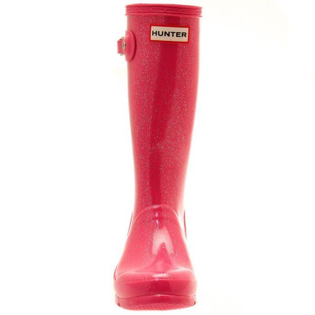 Kids Fuchsia Original Glitter Wellington Boots (12-5)