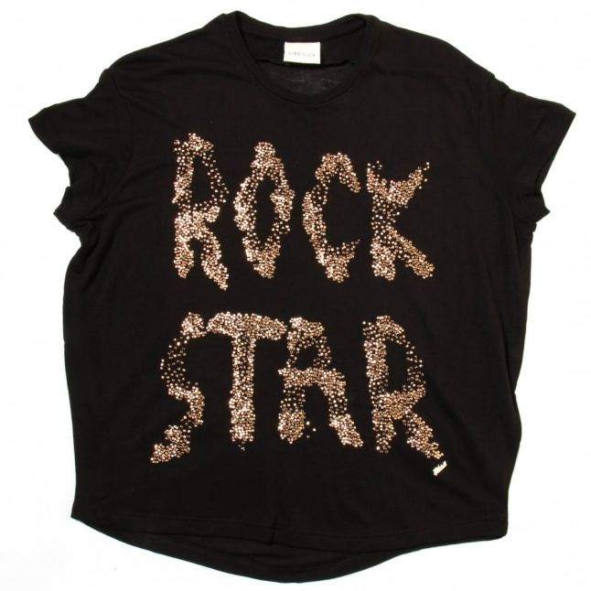 Girls Black Tibla Rock S/s Tee Shirt