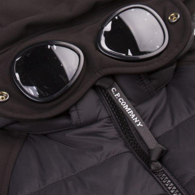 Boys Black Goggle Padded Shell Jacket