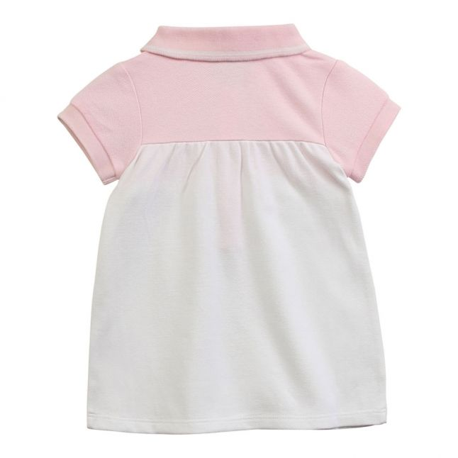 Baby Pink Embroidered Logo Polo Dress