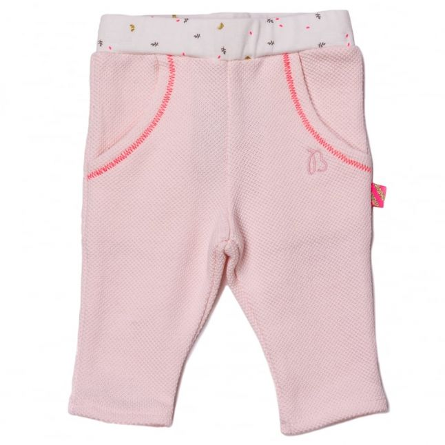 Baby Pale Pink Embroidered Jog Pants