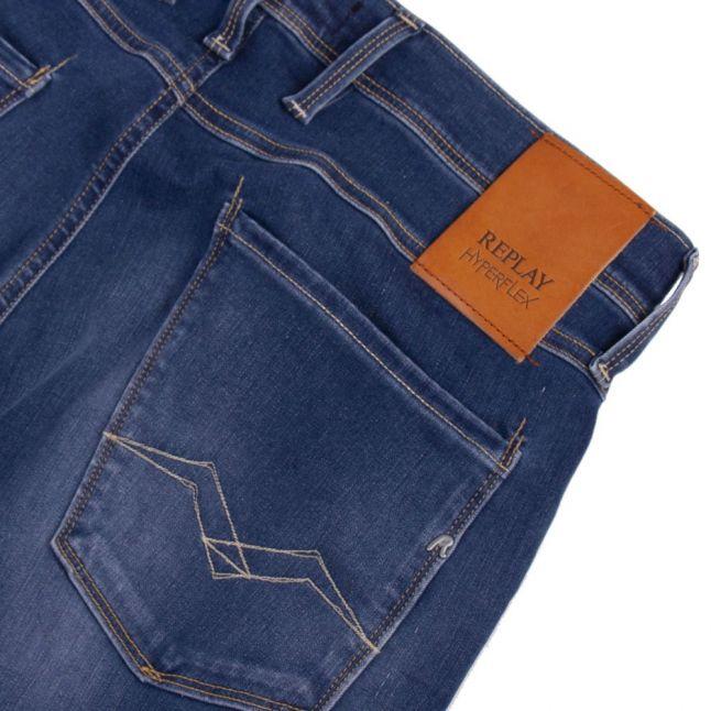 Mens Medium Blue Anbass Hyperflex Re-Used Slim Fit Jeans