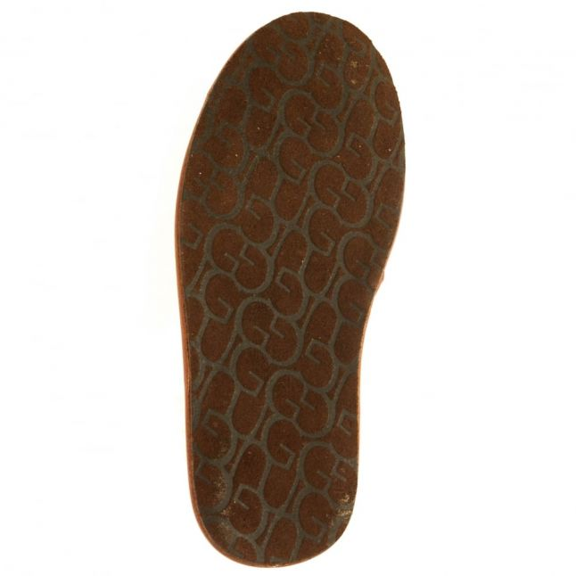Mens Cognac Scuff Scotch Grain Slipper