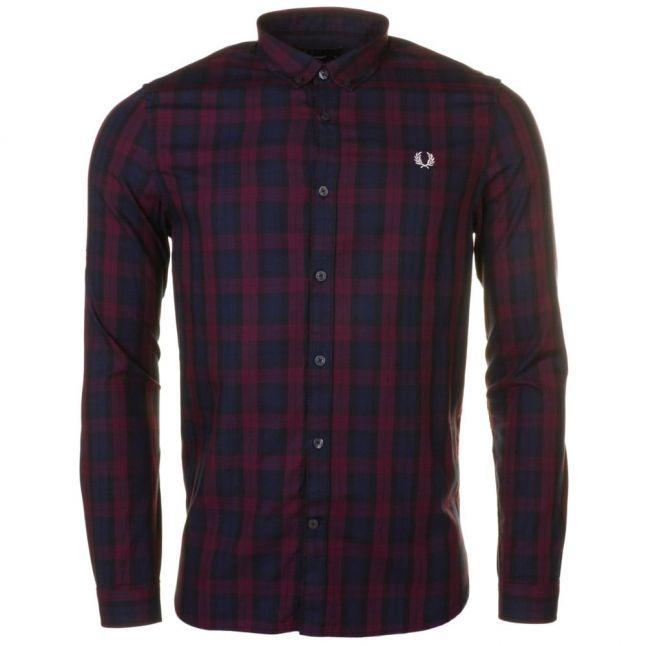 Mens Mahogany Winter Tartan L/s Shirt