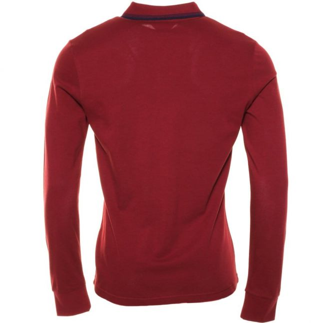 Mens Pomegranate Duo Slim Fit L/s Polo Shirt