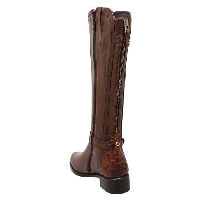Womens Tan Talista Buckle Tall Boots