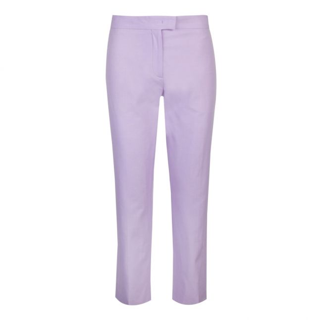 Womens Lilac Cigarette Fit Trousers