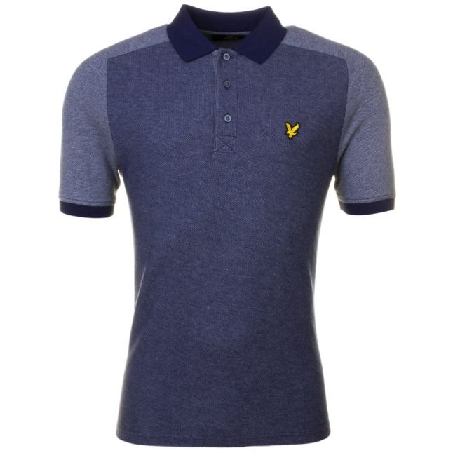 Mens Navy Reverse Birdseye S/s Polo Shirt