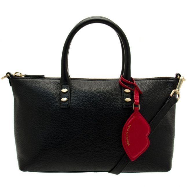 Womens Black Frances Leather Small Cross Body Bag