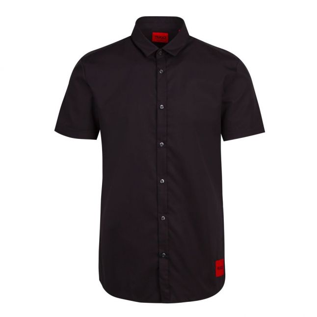 Mens Black Empson-W Extra Slim Fit S/s Shirt