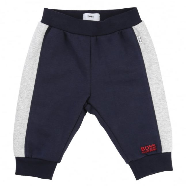 Baby Navy Colour Block Hooded Tracksuit