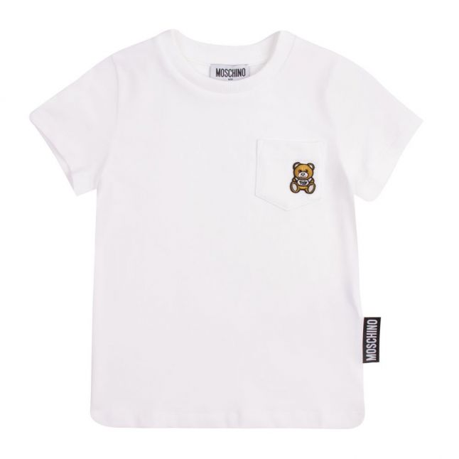 Boys White Toy Pocket S/s T Shirt