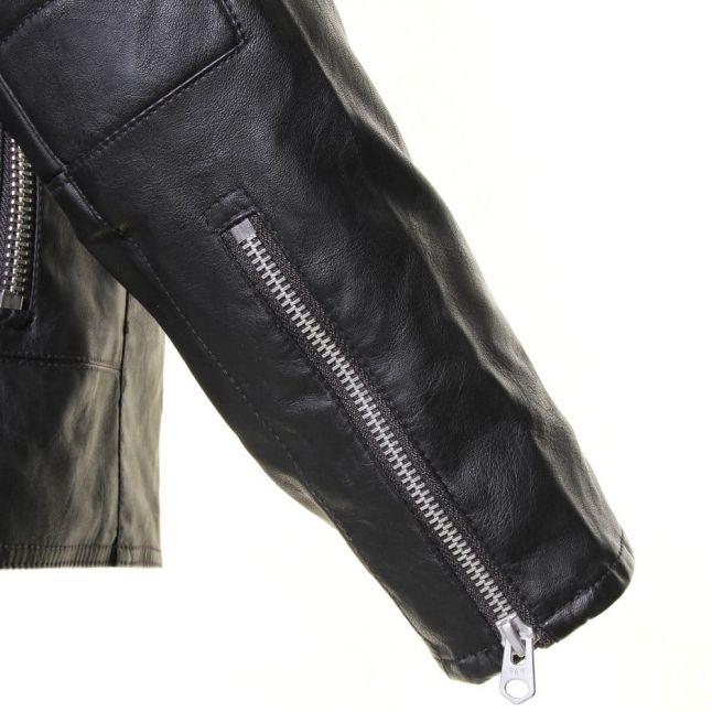 Mens Black Aviator PU Jacket
