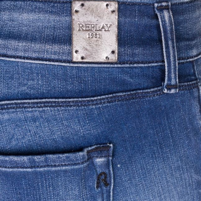 Womens Blue Wash Rose Skinny Fit Jeans