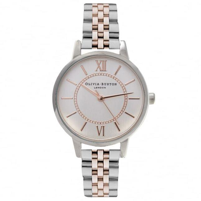 Womens Silver & Rose Gold Wonderland Bracelet Watch