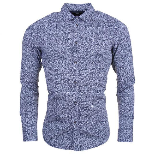 Mens Navy S-Wegee L/s Shirt
