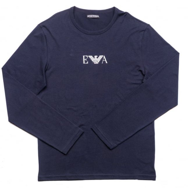 Mens Marine Chest Logo Crew L/s Tee Shirt