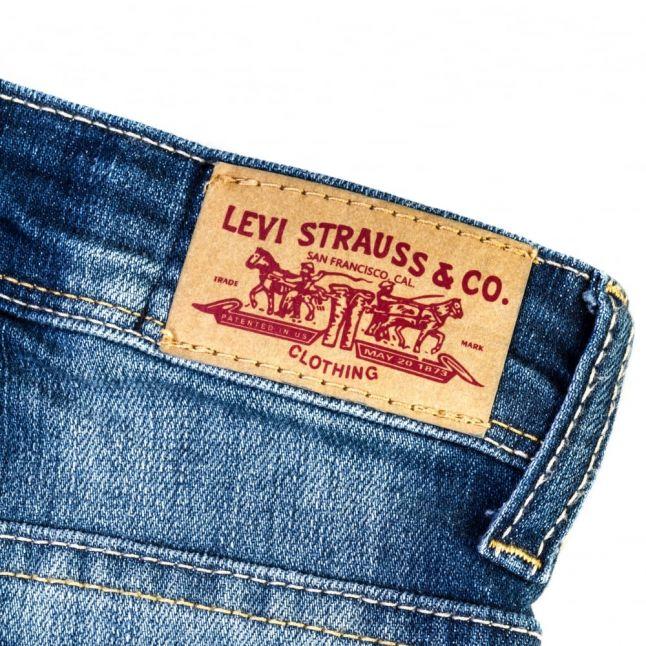Girls Light Indigo Wash Skinny Fit Jeans