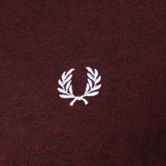 Mens Mahogany Marl Crew Neck S/s Tee Shirt