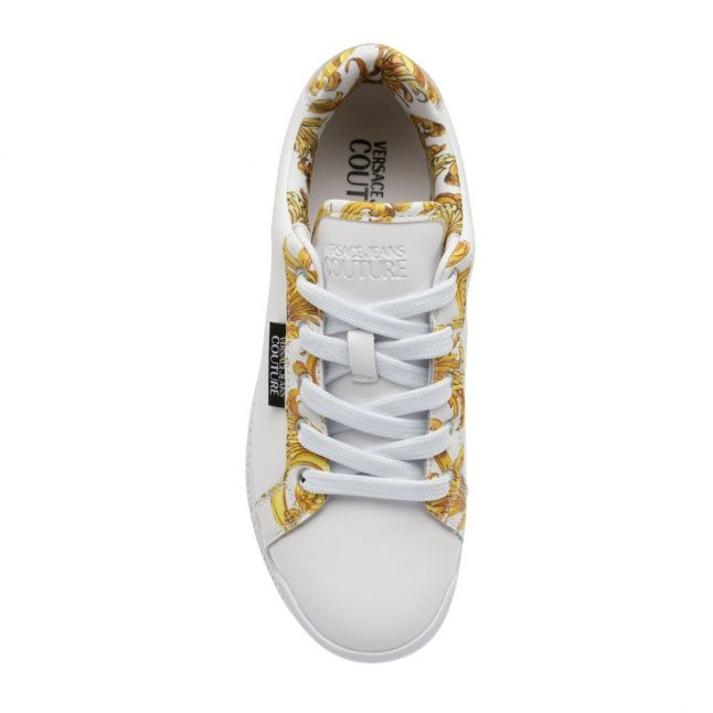 Womens White Baroque Trims Trainers