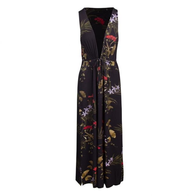 Womens Black Highland Flisss Jersey Maxi Cover Up