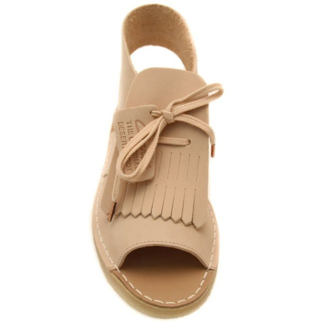 Womens Light Pink Nubuck Desert Kiltie