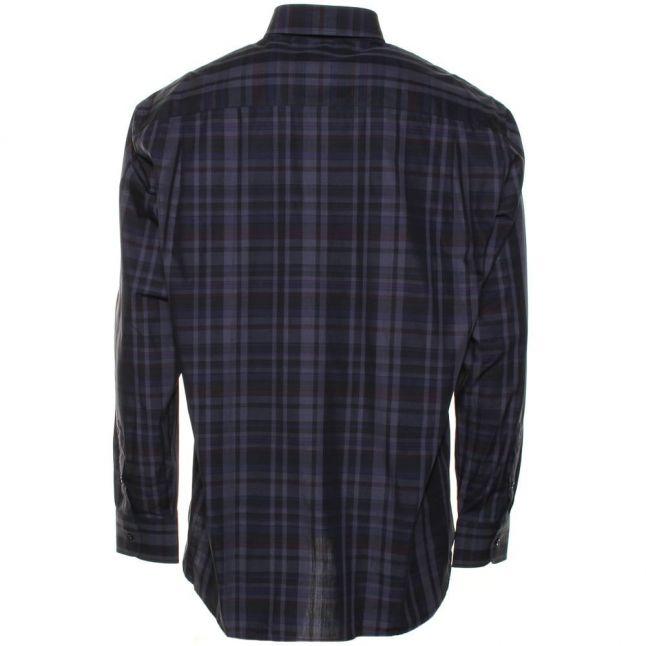 Paul & Shark Mens Grey Regular Fit Check L/s Shirt