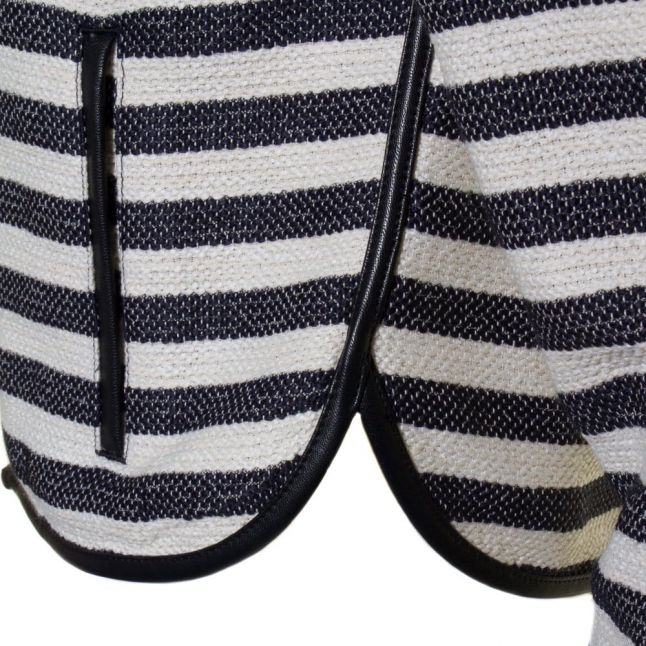 Womens Blue Striped Jacket