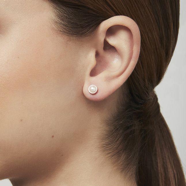 Womens Rose Gold/Pearl Sinaa Pearl Studs