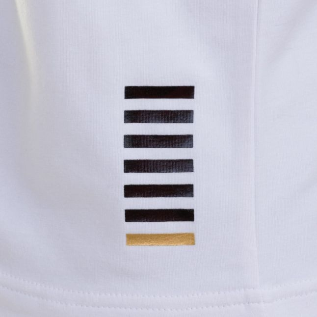 Mens White Training Core Identity Stretch S/s Polo Shirt