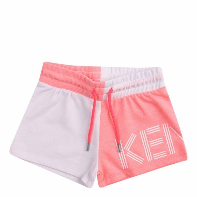 Girls Optic White Logo Mix Sweat Shorts