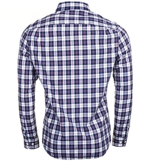 Mens Medieval Blue P55 Check Slim Fit L/s Shirt