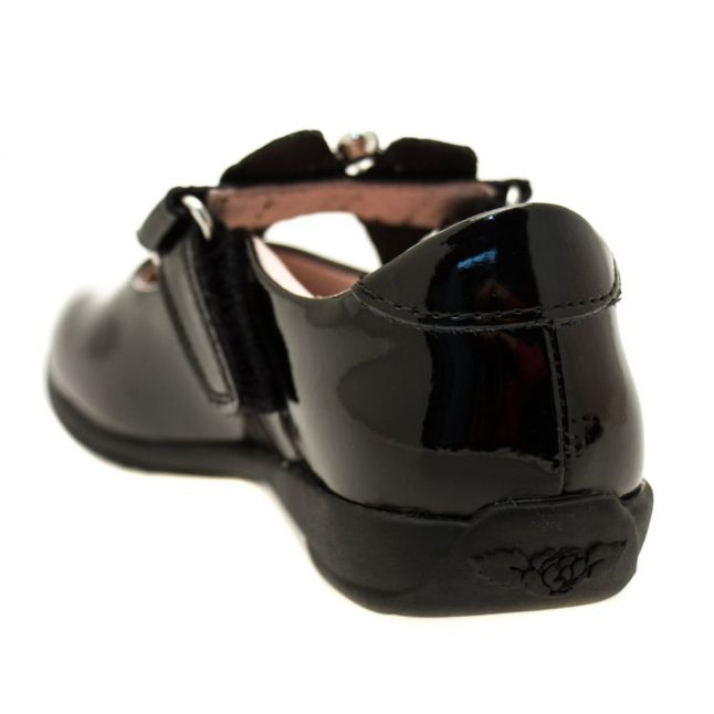 Girls Black Patent Sophia Strap F-Fit Shoes (24-39)