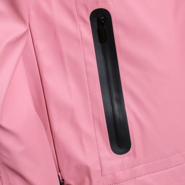 Womens Rhodonite Pink Rubberised Windcheater Jacket