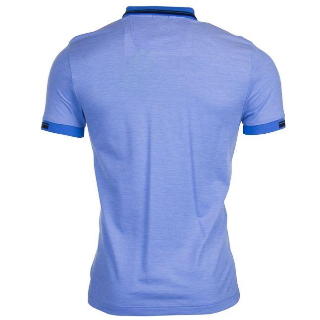 Mens Medium Blue Paule 4 S/s Polo Shirt