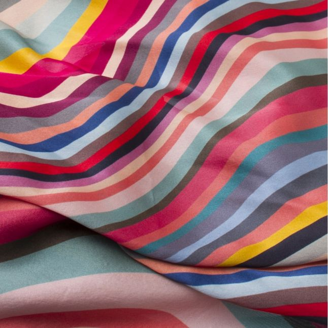 Womens Swirl Silk Scarf